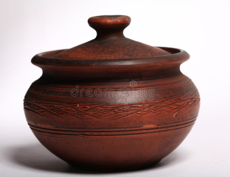 Crock crockery. Handmade old jug royalty free stock photography