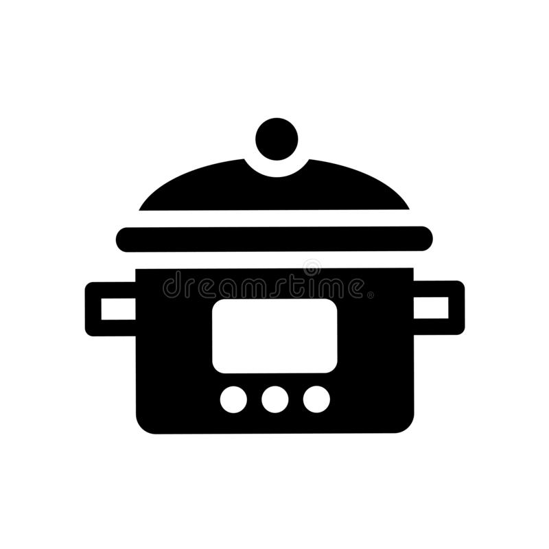 crock-pot icon. Trendy crock-pot logo concept on white background from kitchen collection stock illustration
