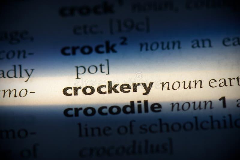 Crockery arkivfoto