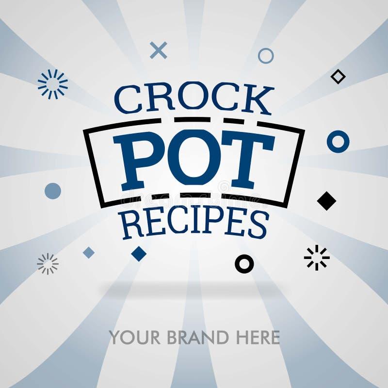Crockpot recipes website. crock pot cookbook webpage. american crock pot dish. can be for promotion, advertising, marketing for pr. Int, cover, magazine, flyer stock illustration