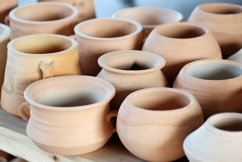 Crocks da cerâmica foto de stock royalty free