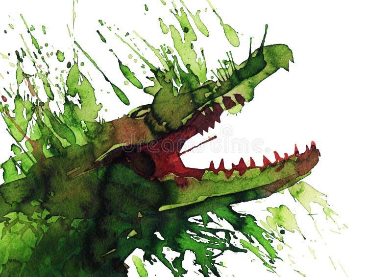 Download Crocodile stock illustration. Illustration of animals - 21592346