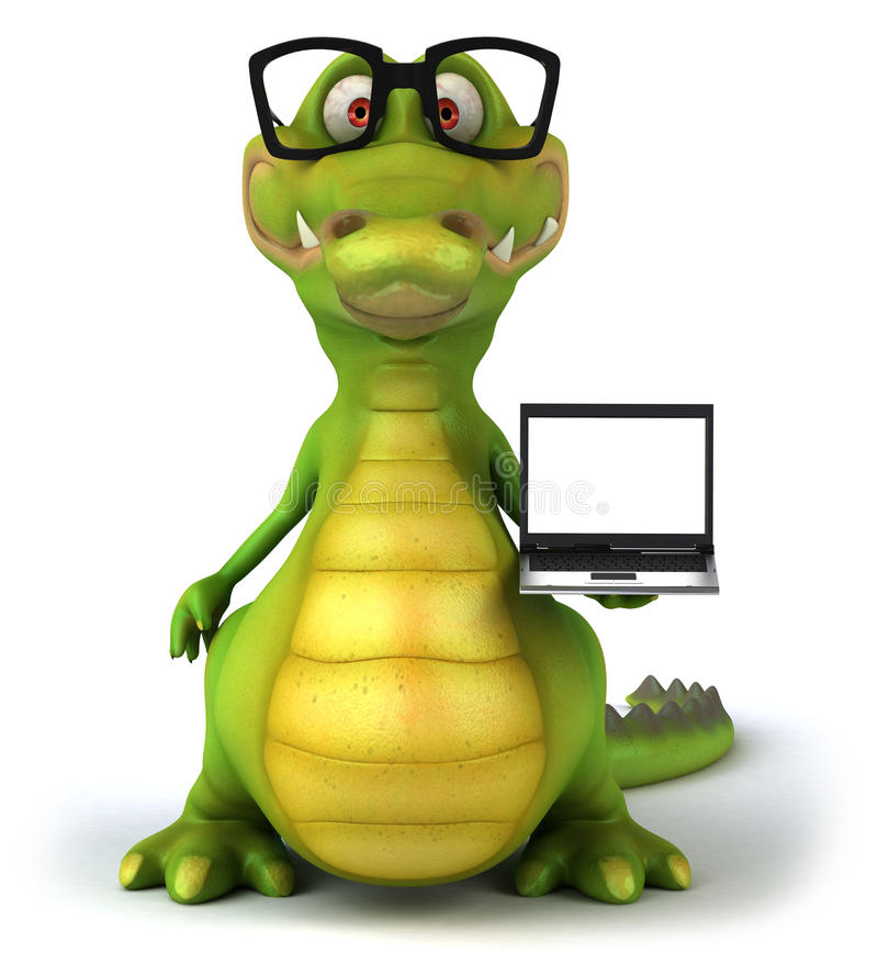 Download Crocodile stock illustration. Image of illustration, character - 24246160