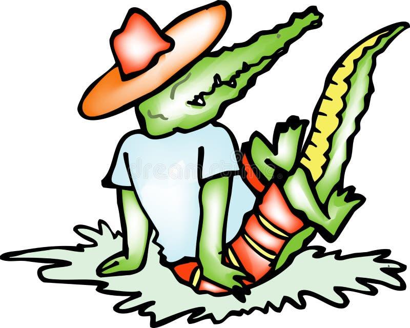Download Crocodile stock illustration. Illustration of toon, drawing - 2477428