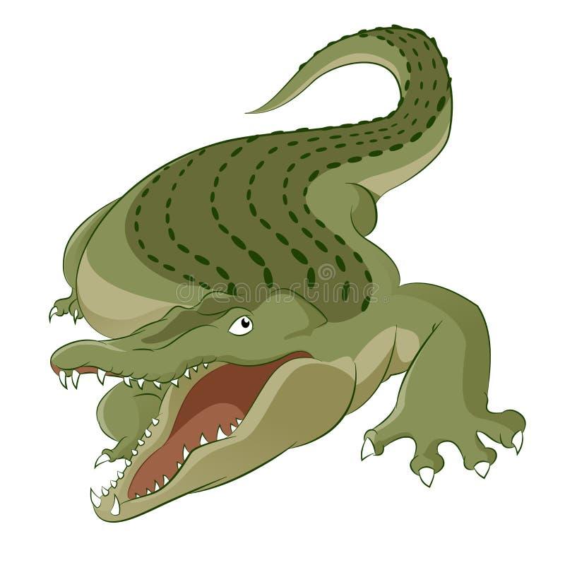 Crocodile. Vector image of cartoon hungry big crocodile vector illustration