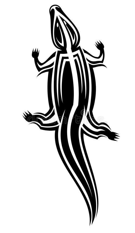 Crocodile as a mascot stock illustration