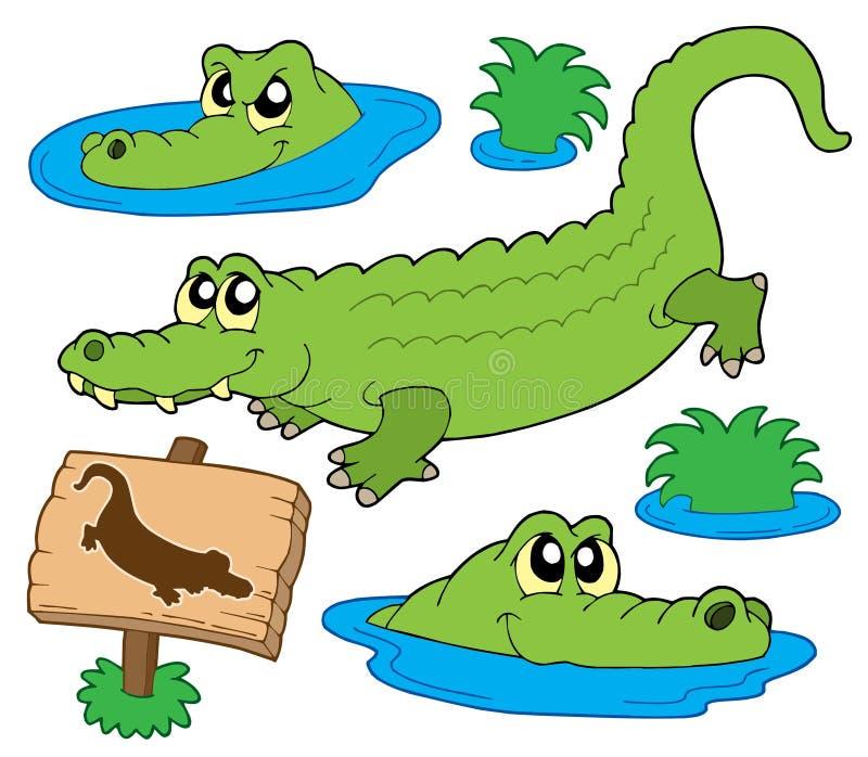 Crocodile collection vector illustration