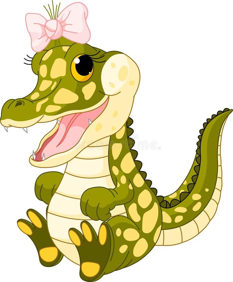 Crocodile de bébé illustration stock