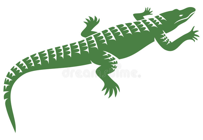 Crocodile. Design, alligator symbol,  icon royalty free illustration
