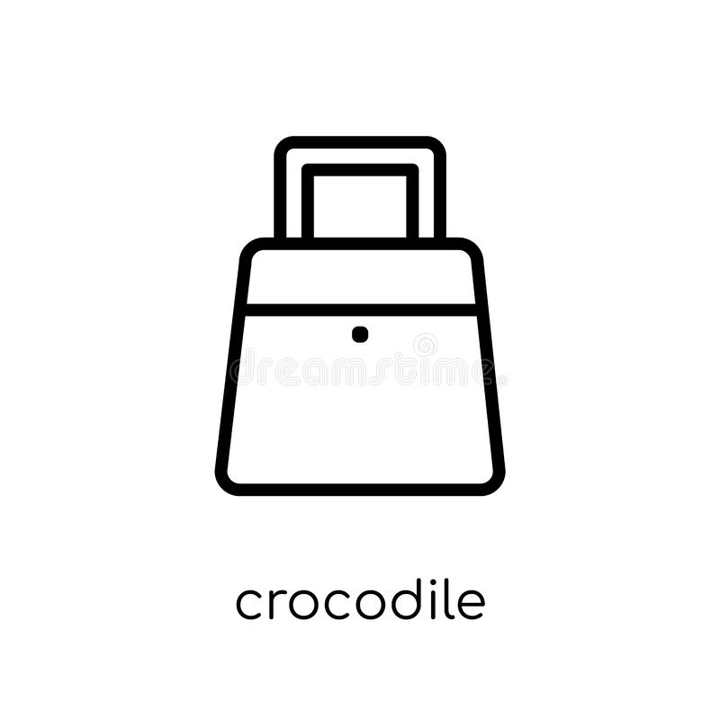 Crocodile leather bag icon from Africa Symbols collection. stock illustration