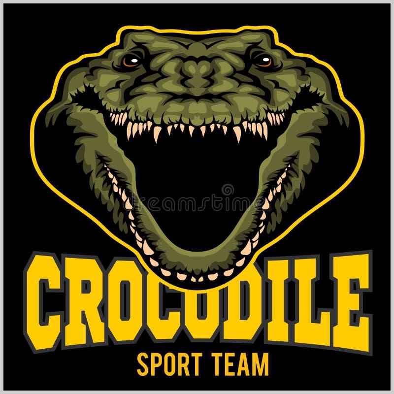 Crocodile mascot for a sport team. Vector illustration. stock illustration