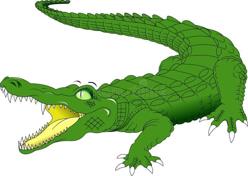 Big Green Crocodile vector illustration