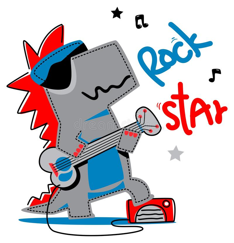 Free Crocodile Playing Rock Guitar Graphic Design Royalty Free Stock Image - 148539946