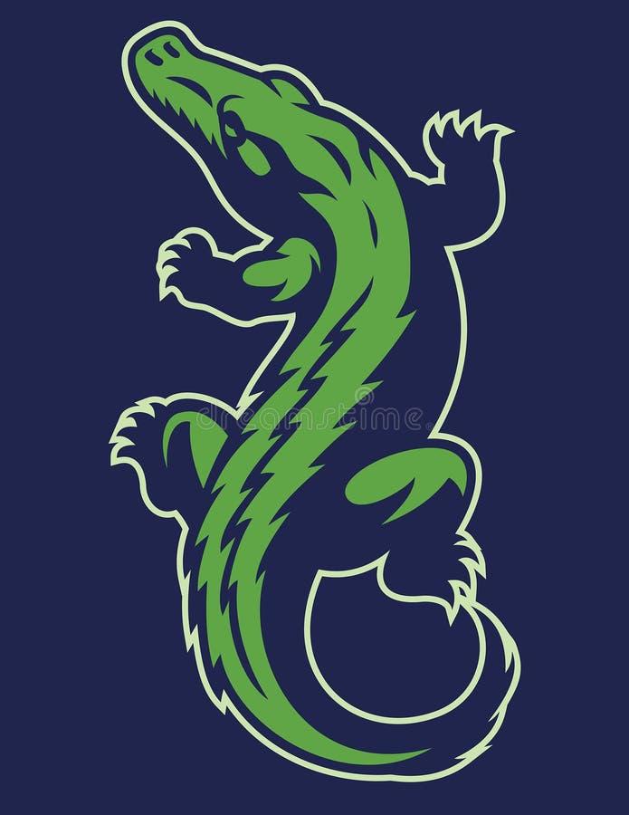 Crocodile reptile mascot vector illustration