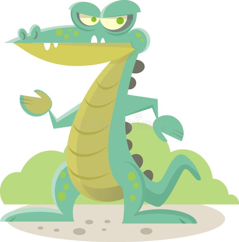 Crocodile Rock. Crocodile walking like an eygptian royalty free illustration
