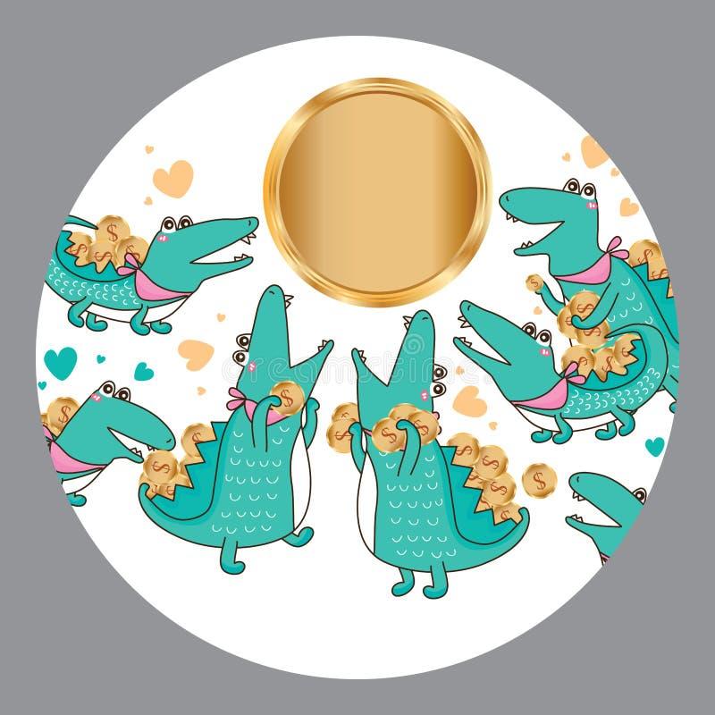 Crocodile super money stock illustration