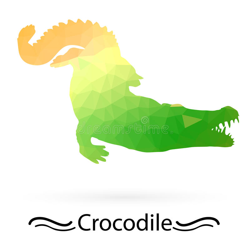 Crocodile triangles of different colors. Vector. vector illustration