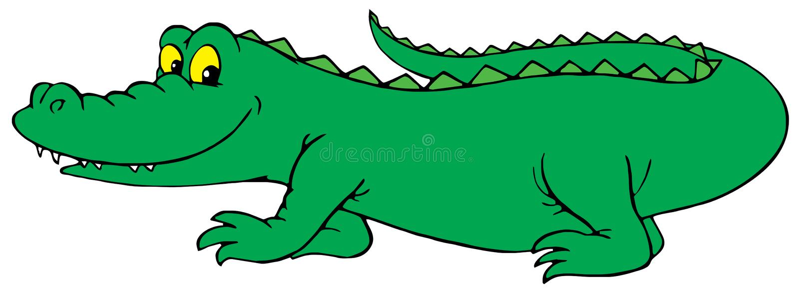 Crocodile (vector clip-art) vector illustration