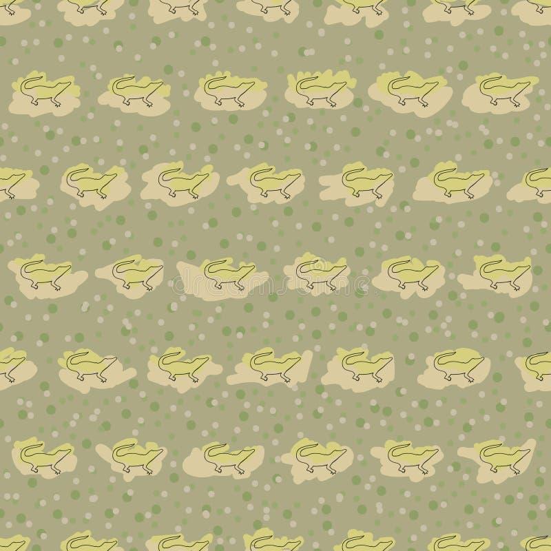 Crocodile vector. Seamless pattern of crocodile background. Crocodile vector. Seamless pattern of crocodile background vector illustration