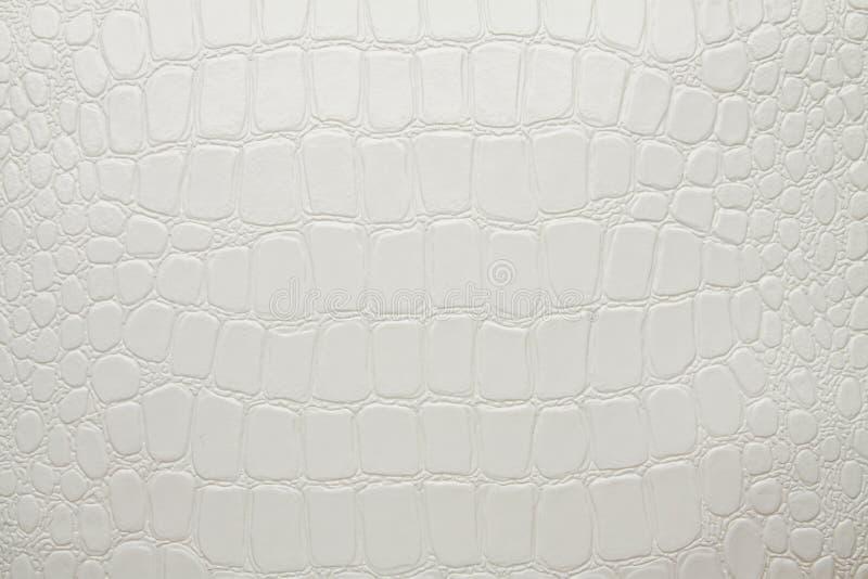 Crocodile Leather White Artificial