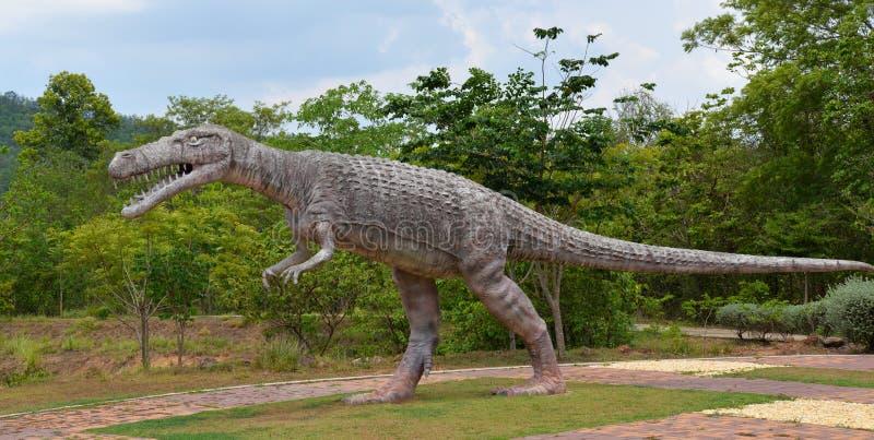 Crocodilia dinosaur. Statue crocodilia dinosaur in Dinosaur park thailand royalty free stock photos