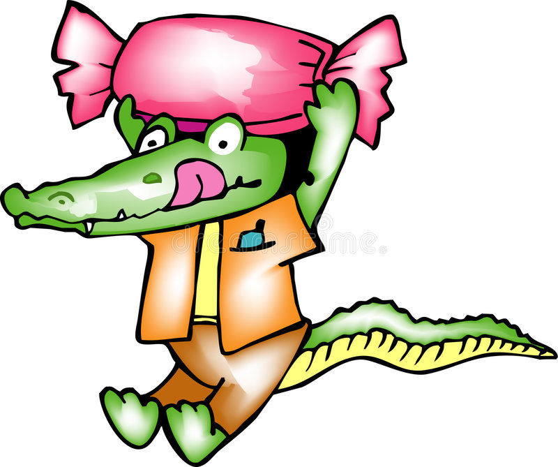Crocodilo ilustração stock