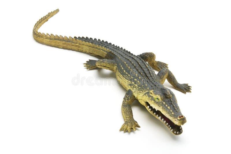 Crocodilo de borracha fotografia de stock