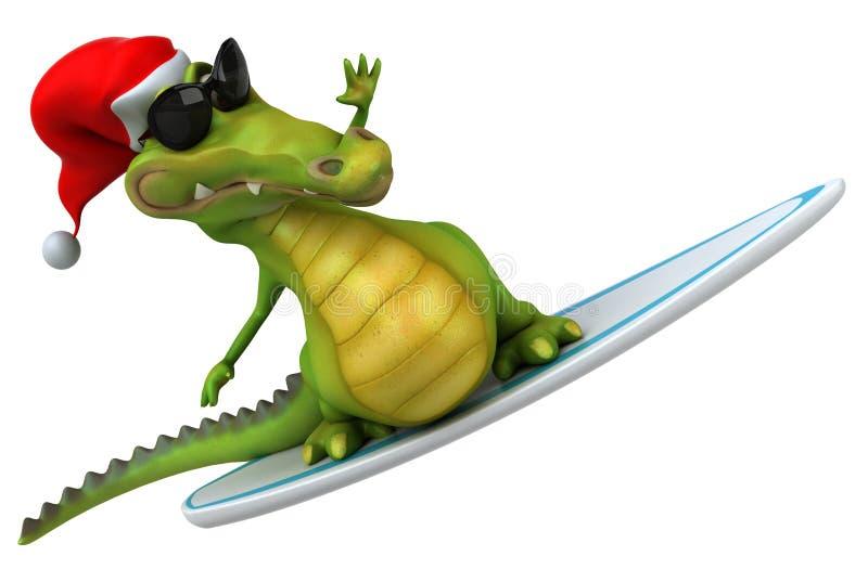 Crocodilo do divertimento ilustração stock