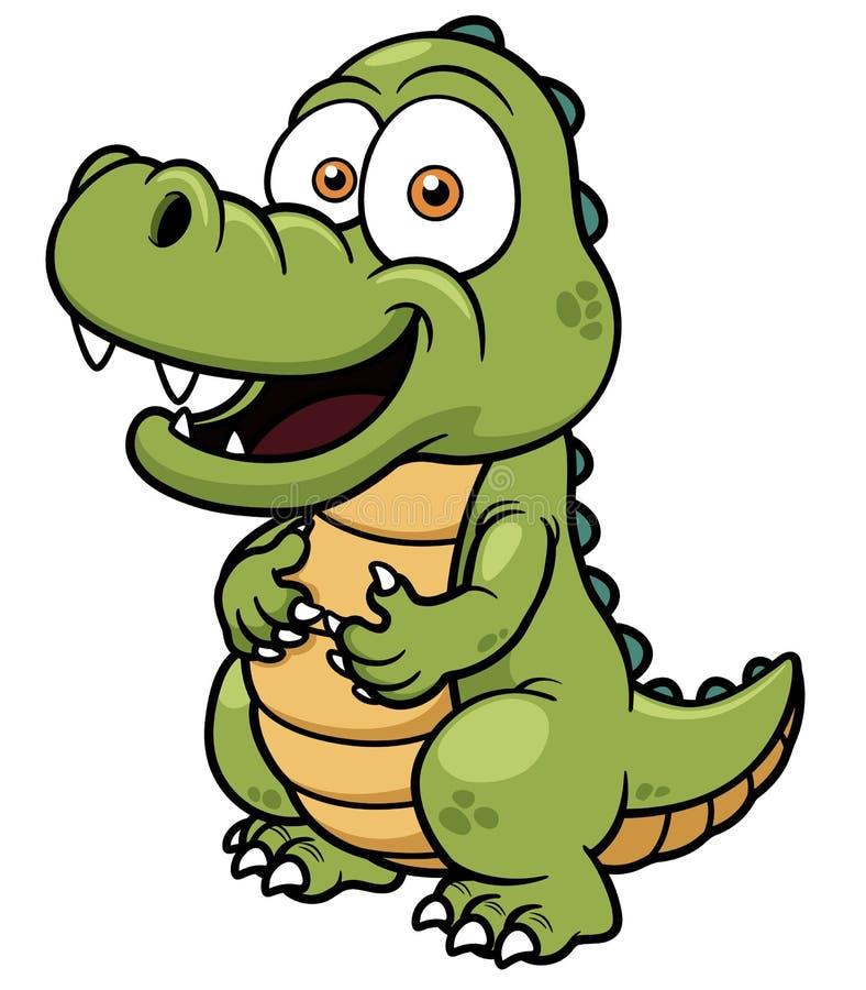 Crocodilo dos desenhos animados ilustração royalty free