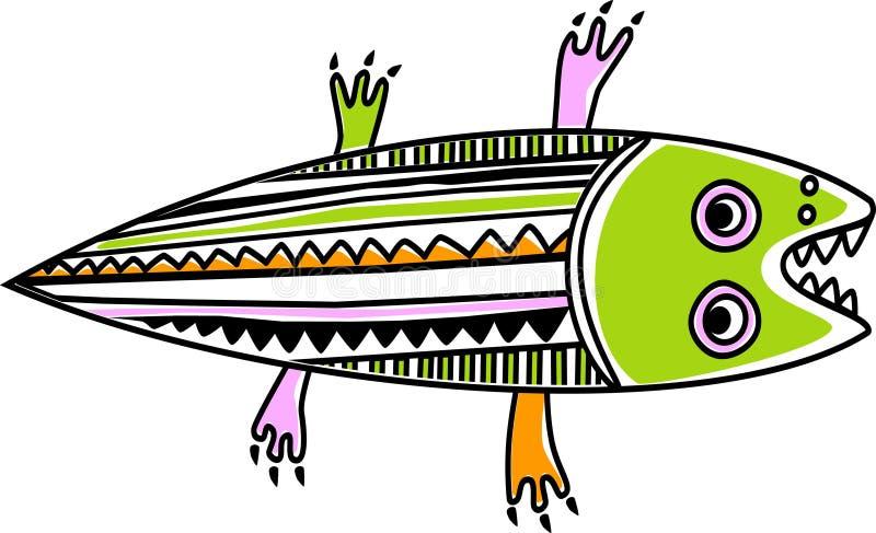 Crocodilo engraçado ilustração do vetor