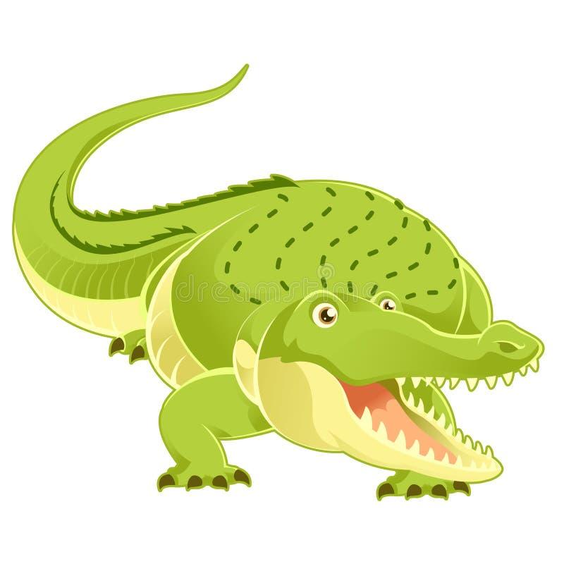 crocodilo feliz dos desenhos animados ilustração royalty free