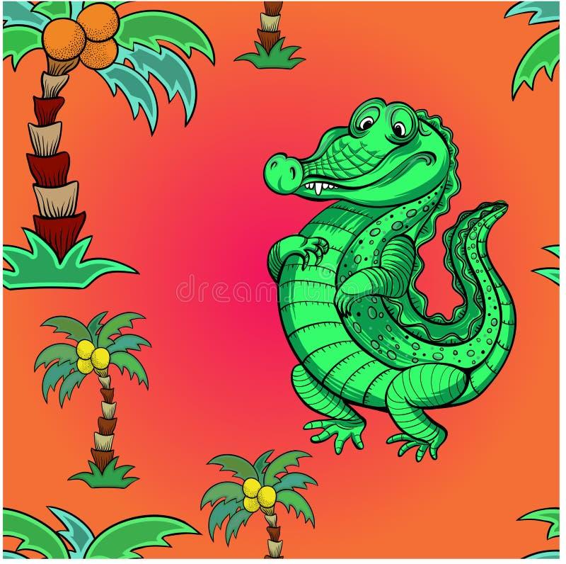 crocodilo Ilustração do vetor para crianças Use materiais impressos, sinais, objetos, Web site, mapas, cartazes, cartão D sem eme ilustração do vetor