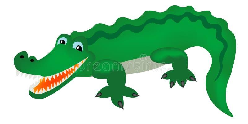 Crocodilo verde imagens de stock