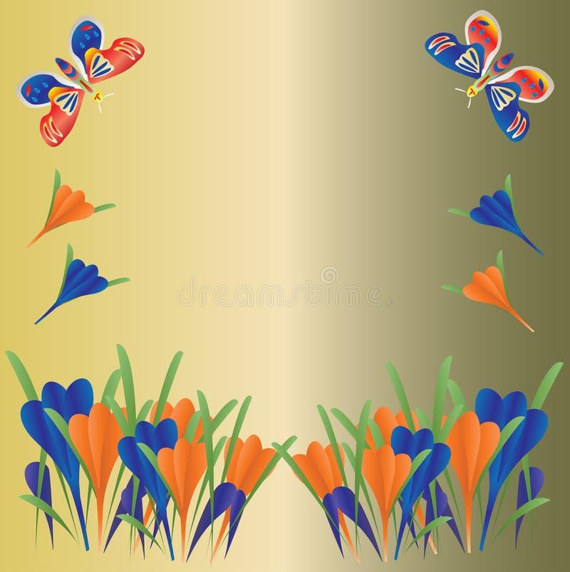 Download Crocus And Butterflies Background Stock Vector - Image: 7193628