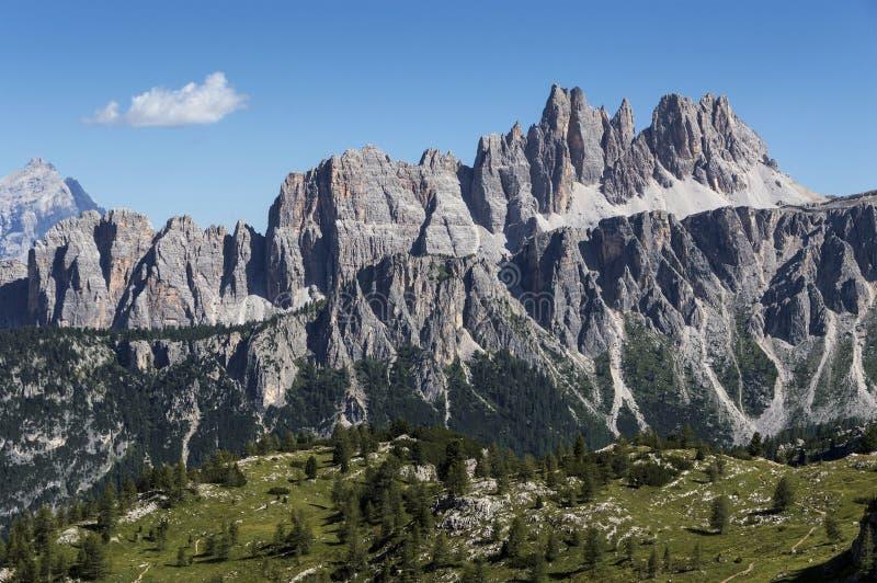Croda da Lago, Dolomites stock photography
