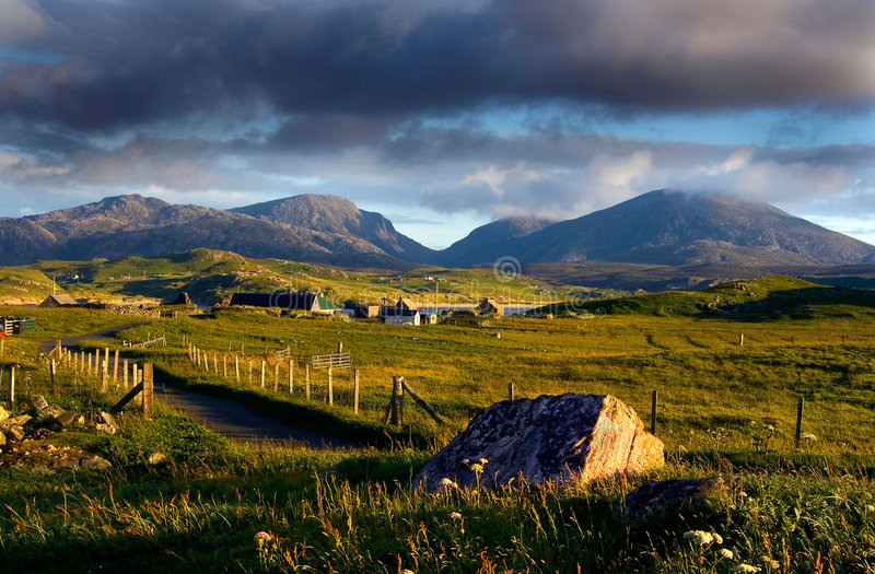 Crofting Village, Isle of Lewis, Scotland royalty free stock photography