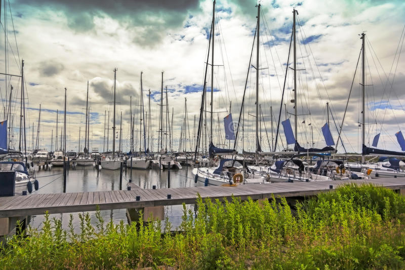 Crogioli di vela olandesi immagine stock