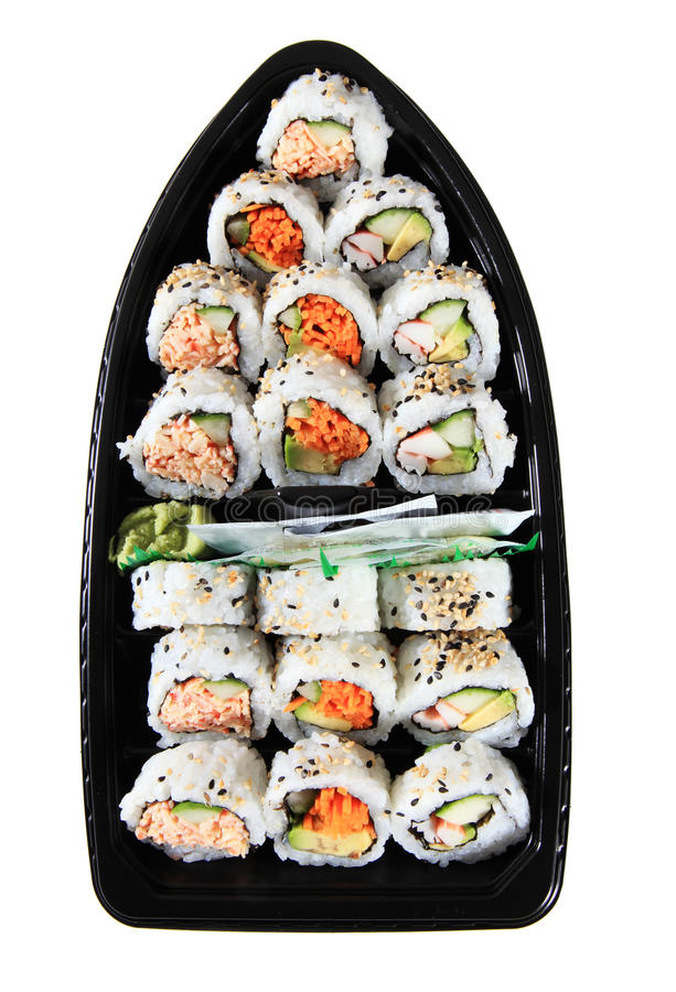 Crogiolo di sushi fotografia stock