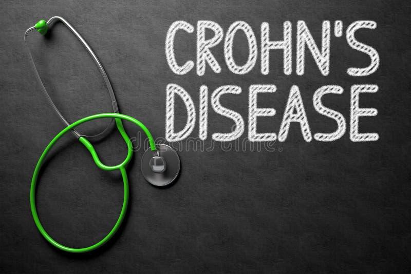Crohns疾病-在黑板的文本 3d例证 库存例证