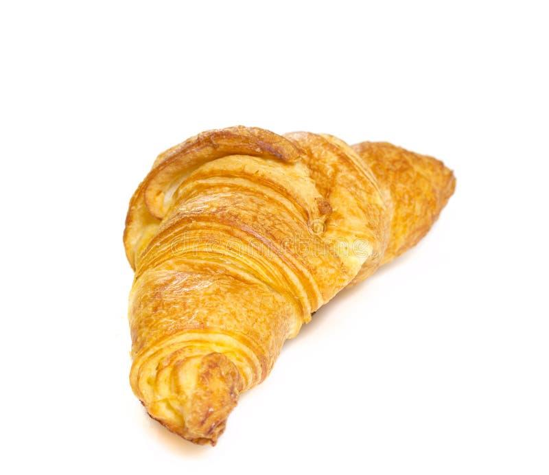 Croisant изолировало на белом bakground стоковая фотография rf