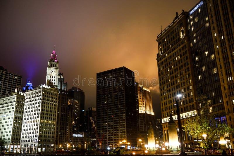Croisement Amérique, Chicago, une ville incluse en brouillard image libre de droits