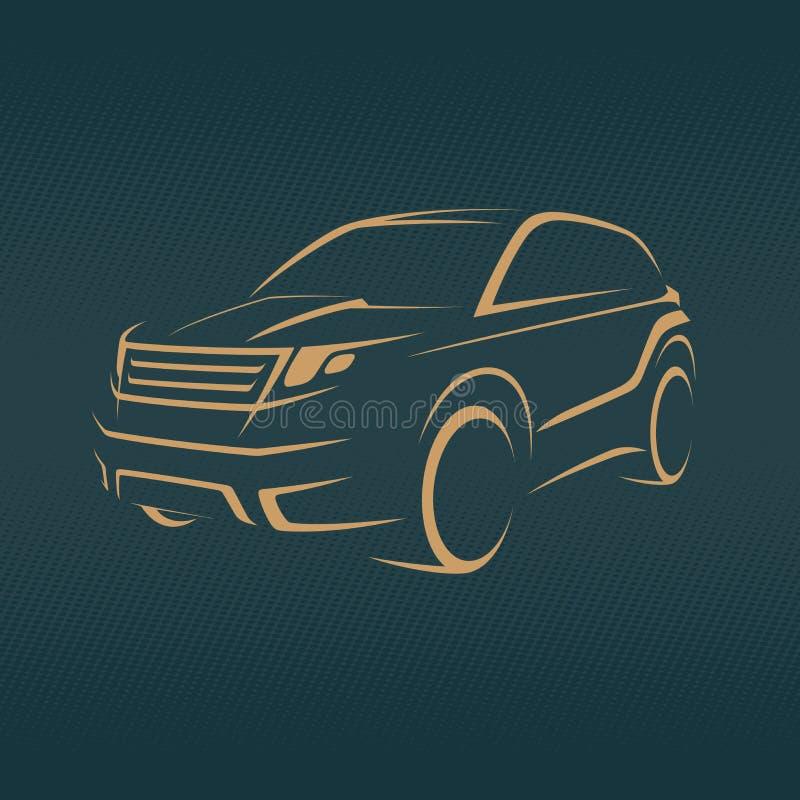 Croisement, croquis de voiture d'offroader illustration de vecteur