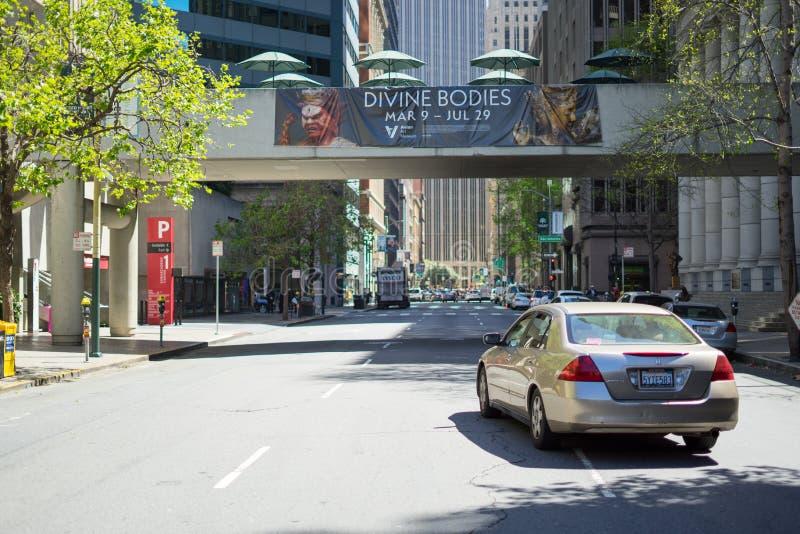Croisement d'argile et de Davis Street à San Francisco images libres de droits