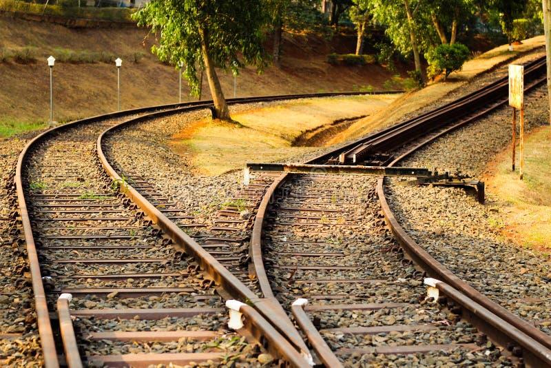 Croisement de chemin de fer photographie stock libre de droits