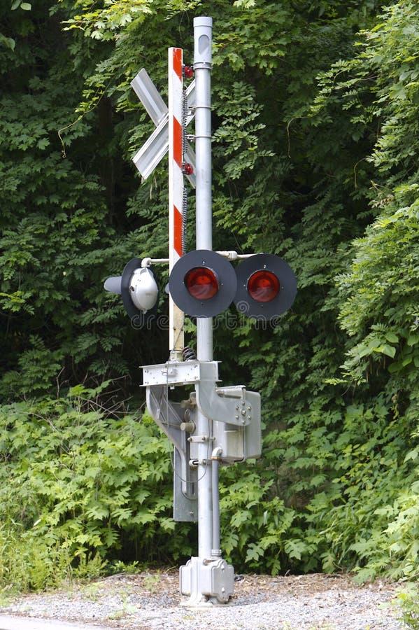 Croisement de chemin de fer photo libre de droits