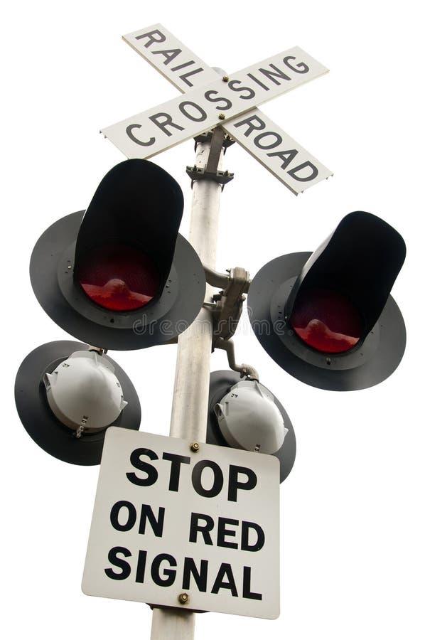 Croisement de chemin de fer supplémentaire image stock