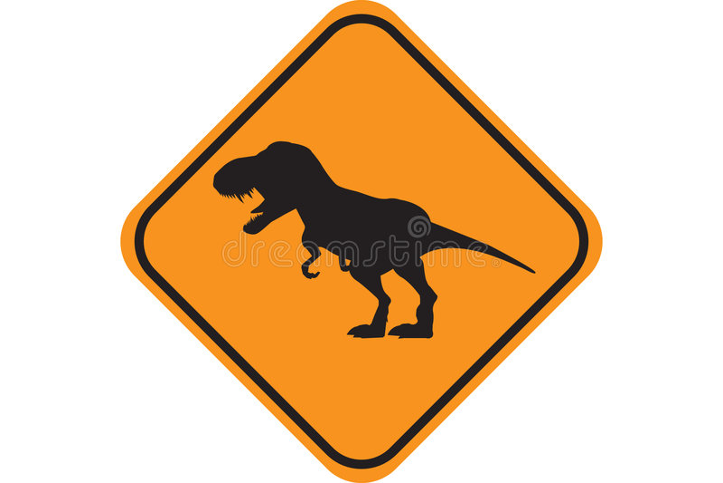 Croisement de Dino illustration stock