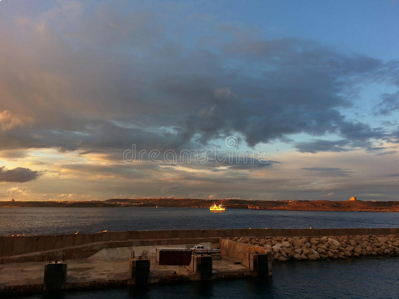 Croisement de ferry image stock
