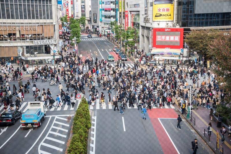 Croisement de Shibuya photographie stock libre de droits