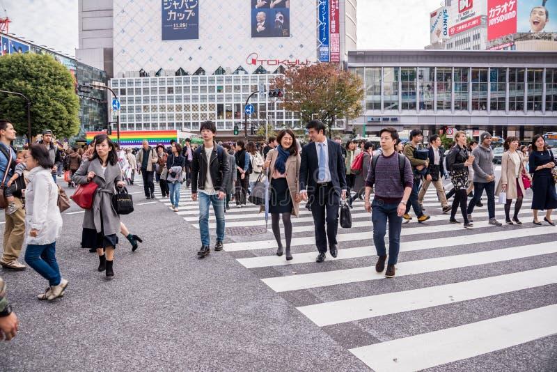 Croisement de Shibuya photo libre de droits